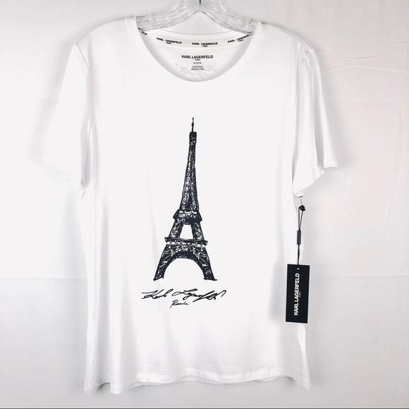 eeee5c3006 Karl Lagerfeld Tops | Paris Eiffel Tower Tee | Poshmark